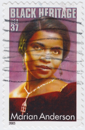 USA - CIRCA 2005 : stamp printed in USA shows Marian Anderson African-American contralto singer, circa 2005 Stock Photo - 15839074