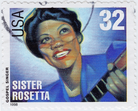 USA - CIRCA 1998   stamp printed in USA shows Sister Rosetta is an gospel singer, circa 1998 Stock Photo - 15852364