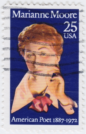 marianne: USA - CIRCA 1982 : stamp printed in USA show American poet Marianne Moore, circa 1982