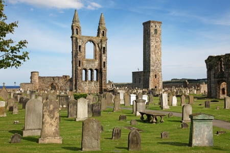andrews: St Andrews cathedral grounds, Scotland, UK