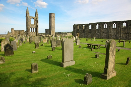St Andrews cathedral grounds, Scotland, GB photo