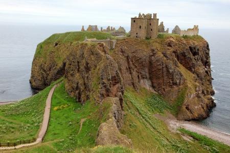 dunnottar castle: Dunnottar Castle, Scotland, UK Stock Photo