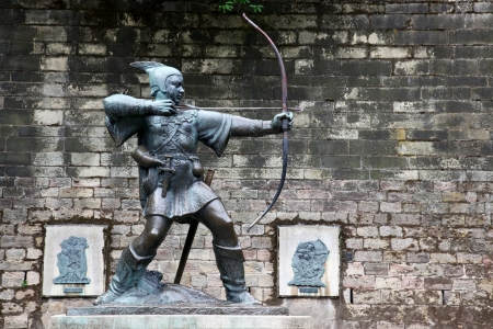 Statue Of Robin Hood at Nottingham Castle, Nottingham, UK Stock Photo - 15855045