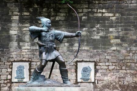 Statue Of Robin Hood at Nottingham Castle, Nottingham, UK Stock Photo - 15855045