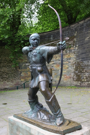 Statue Of Robin Hood at Nottingham Castle, Nottingham, GB