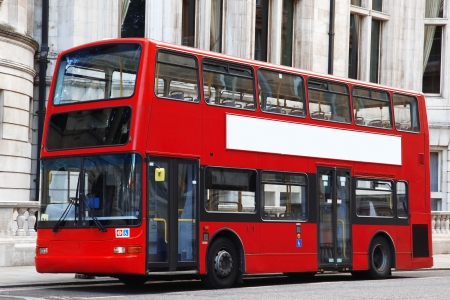 London Double decker red bus  photo