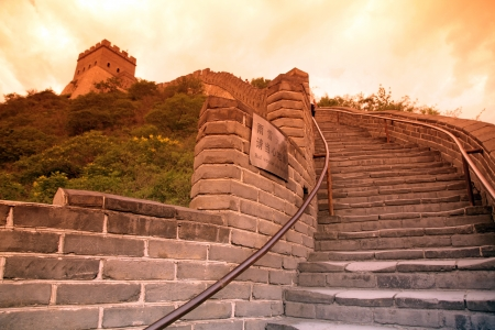 Sundown of Great Wall, Beijing, China photo