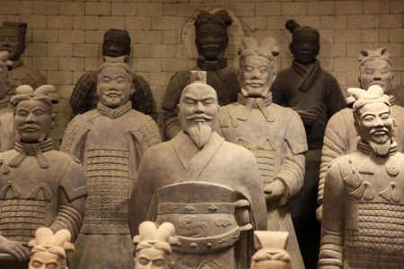 empty tomb: The famous terracotta warriors of XiAn, China