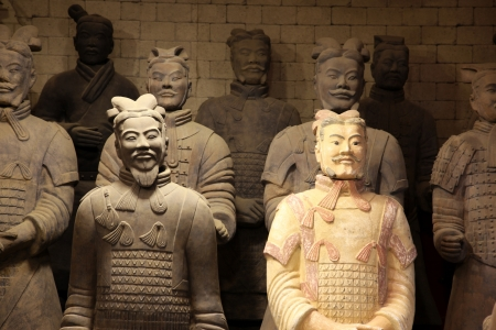 tomb empty: The famous terracotta warriors of XiAn, Qin Shi Huangs Tomb, China Editorial