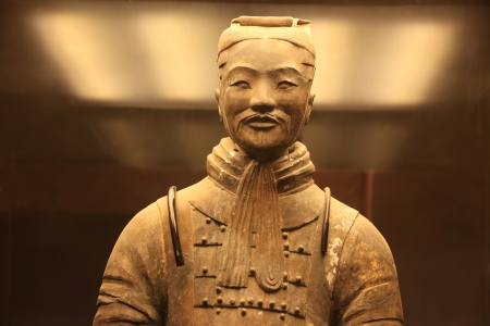 Type of The famous terracotta warriors of XiAn, China Stock Photo