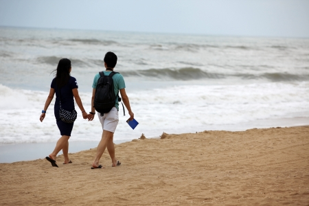 Young couple in love, at the beach Stock Photo - 15854658