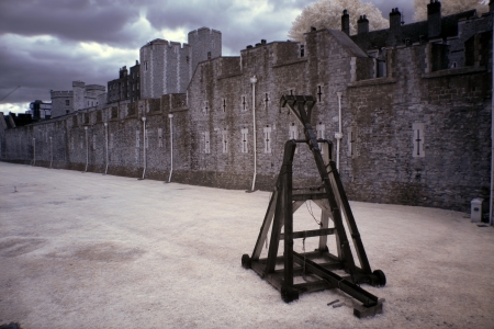 Battle catapult in The Tower of London, medieval castle and prison, UK photo