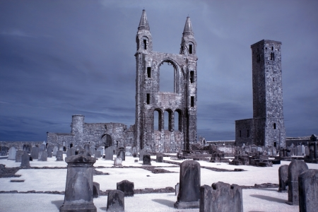 St Andrews cathedral grounds, GB Stock Photo - 15853204