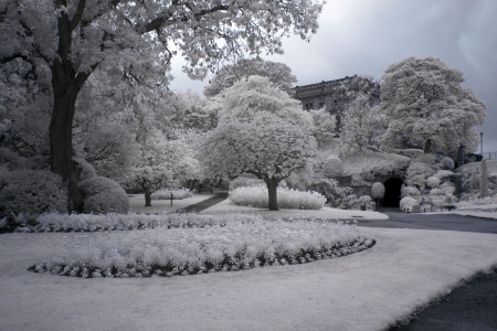 Park at Nottingham Castle, UK photo