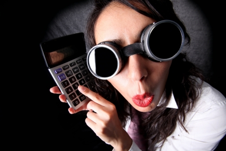 manager with calculator Stock Photo - 15859557