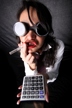 faker: accountant manager Stock Photo