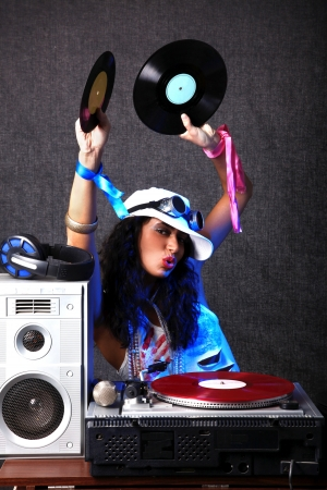 cool DJ in action photo