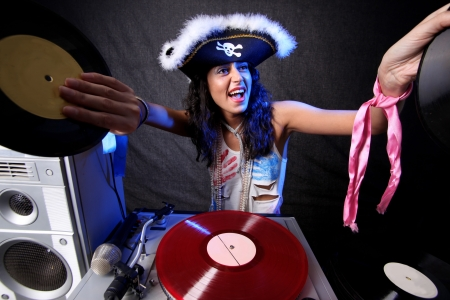 cool DJ in action Stock Photo - 15859679