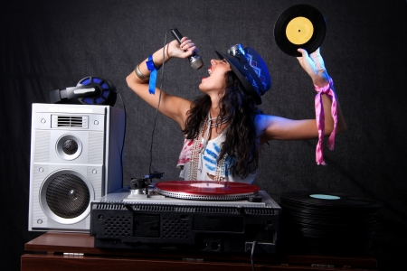 cool DJ in action Stock Photo - 15859742