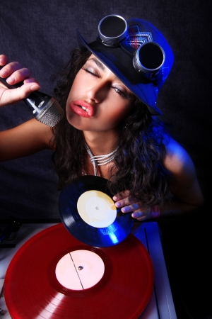 70s disco: cool DJ in action