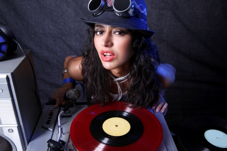 cool DJ in action Stock Photo - 15859627