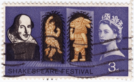 GREAT BRITAIN - CIRCA 1963 : stamp printed iny Great Britain shows Shakespeare Festivale, circa 1963