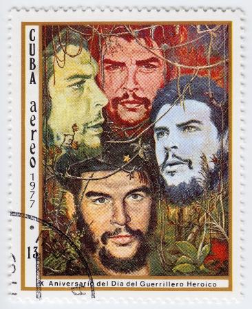 guerrilla: CUBA - CIRCA 1977   stamp printed in Cuba shows Ernesto Che Guevara - legendary guerrilla, circa 1977 Editorial