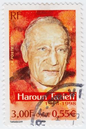 FRANCE - CIRCA 2000: stamp printed in France shows Haroun Tazieff, circa 2000