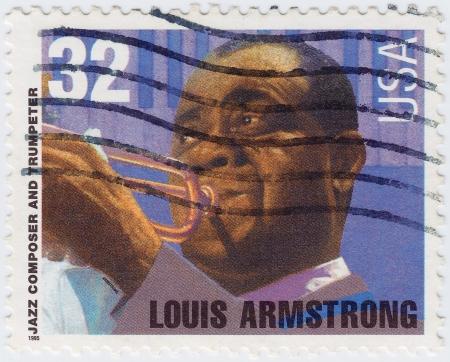 louis armstrong: USA - CIRCA 1995: stamp printed in USA show Louis Armstrong, circa 1995