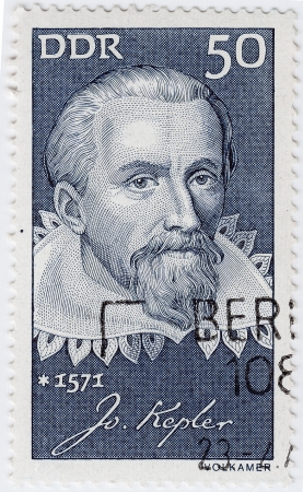 eponymous: GERMANY - CIRCA 1971   stamp printed in USA show great astronomer Johannes Kepler, circa 1971
