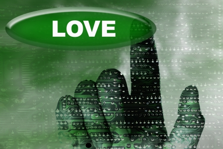 cybernetics: cybernetics hand and button