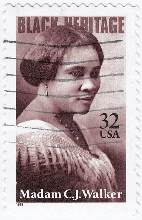 USA - CIRCA 1998 : stamp printed in USA show Madam C. J. Walker African-American businesswoman, circa 1998