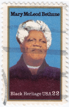 USA - CIRCA 2000 : stamp printed in USA shows Mary McLeod Bethune African-American educator and civil rights leader, circa 2000 Stock Photo - 15855079