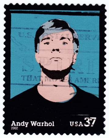 andy: USA - CIRCA 2002 : stamp printed in USA with Andy Warhol, circa 2002