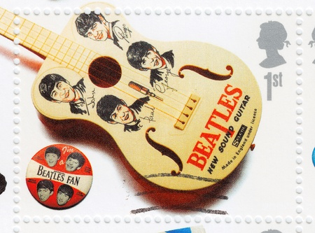 UKA - CIRCA 2000 : Stamp printed in UK shows The Beatles, circa 2000