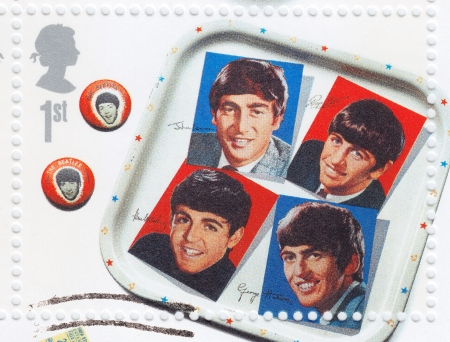 UK - CIRCA 2000 : Stamp printed in UK shows The Beatles, circa 2000
