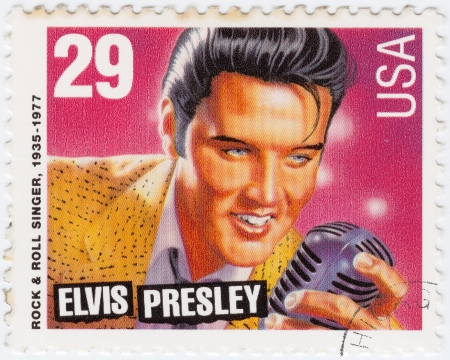 USA - CIRCA 1980 : stamp printed in USA showing Elvis Presley, circa 1980