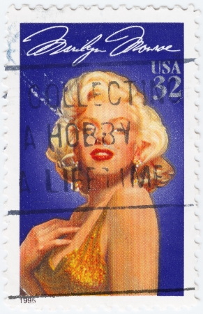 USA - CIRCA 1995 : stamp printed in USA showing Merilyn Monroe, circa 1995 Stock Photo - 15876427