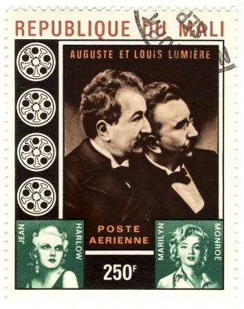 stamp with brother Lumiere, Marilyn Monroe and Jean Harlow