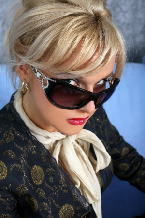 woman in sunglasses photo