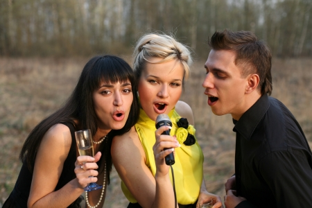 singers trio Stock Photo - 15928297