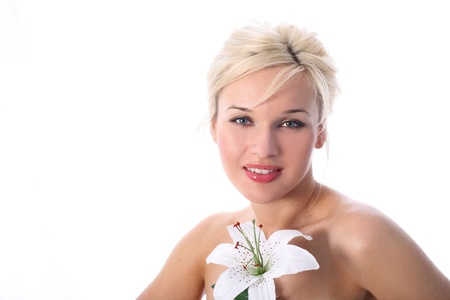 in spa with madonna lily photo