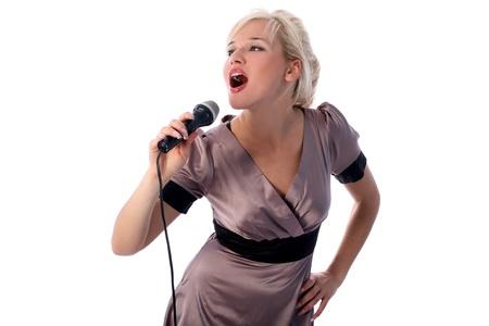 blonde Sängerin Lizenzfreie Bilder - 15942101