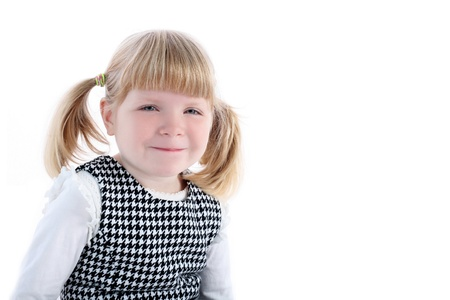 smiling girl isolated on white Stock Photo - 15930302