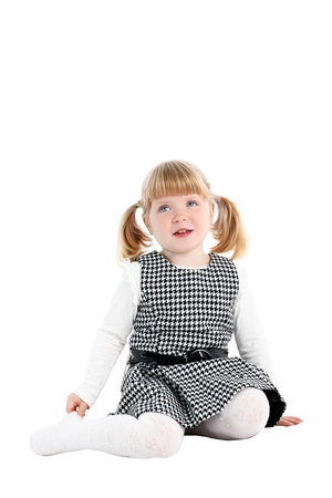 Adorable little girl isolated on white Stock Photo - 15942264
