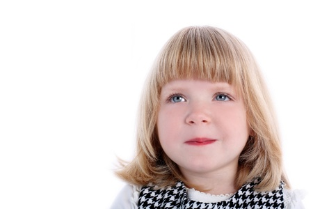 smiling girl isolated on white Stock Photo - 15942399