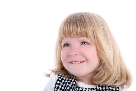 smiling girl isolated on white Stock Photo - 15942443