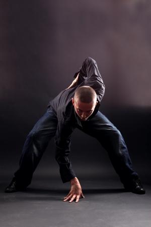 man modern dancer against black Stock Photo - 15979952