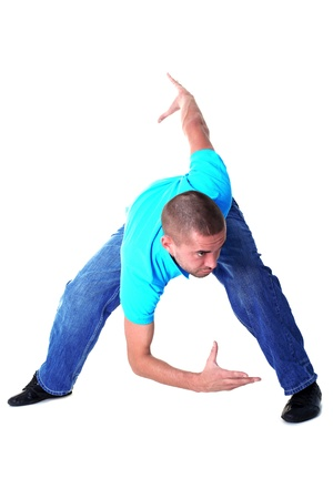 modern man dancer isolated on white photo