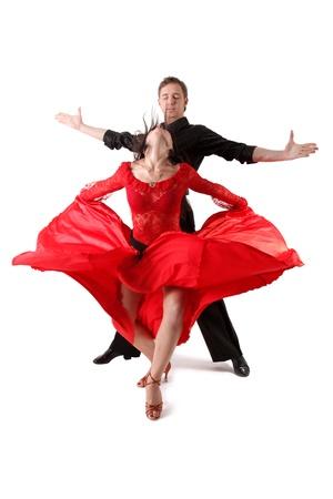 Tänzer in Aktion auf weiß isoliert Standard-Bild - 15930165
